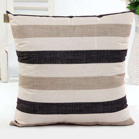 Shops Square Shape Stripe Pattern Pillow Case(Without Pillow Inner)