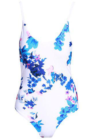 Shops Sexy Floral Print One-Piece Women's Stringy Swimwear