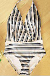 Sexy Halter Striped Swimsuit For Women -