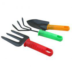 Hot Sale Colorful Shovel Spade Harrow 3 PCS Suit Mini Plant Tool -