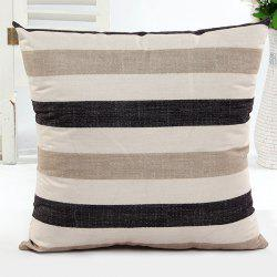 Square Shape Stripe Pattern Pillow Case(Without Pillow Inner) -