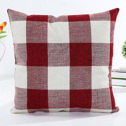 Colorful Plaid Pattern Square Shape Flax Pillow Case(Without Pillow Inner) -
