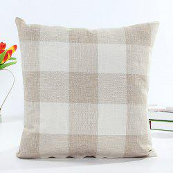 Classical Plaid Pattern Square Shape Linen Pillow Case(Without Pillow Inner) -