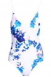 Sexy Floral Print One-Piece Women's Stringy Swimwear -