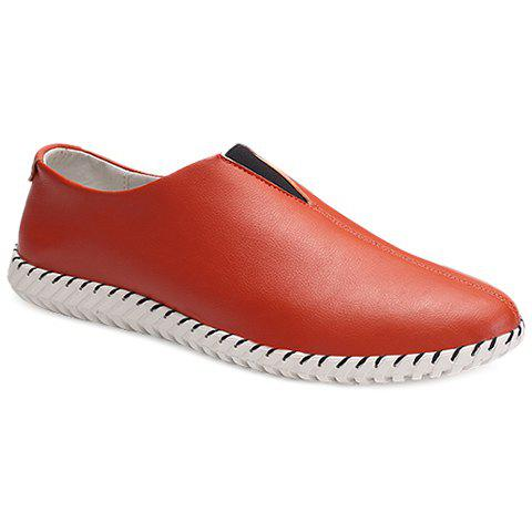 Fashion Faux Leather Slip On Sneakers