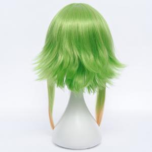 Trendy Medium Fluffy Straight Anti Alice Hair Ombre Color GUMI Cosplay Wig - COLORMIX