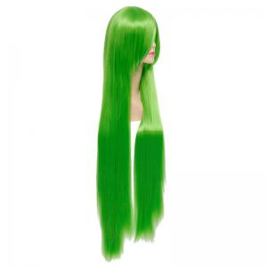 Fashion Green Capless Extra Long Silky Straight Synthetic Code Geass Cosplay Wig -