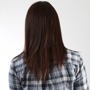 Two-Tone Mixed Glossy Straight Stunning Long Synthetic Trendy Full Bang Capless Women's Wig -