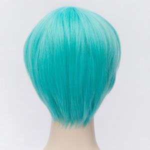 Fashion Short Straight Synthetic Blue Side Bang Ichigo Hitofuri Cosplay Wig - BLUE