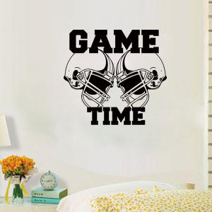 Letter Pattern Removeable Sport Quotes Wall Decal - BLACK