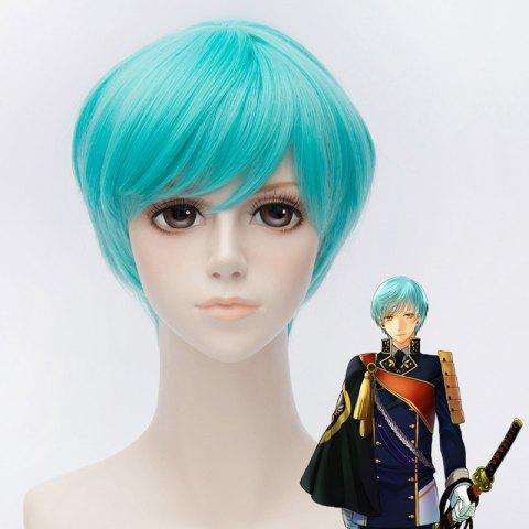 Store Fashion Short Straight Synthetic Blue Side Bang Ichigo Hitofuri Cosplay Wig BLUE