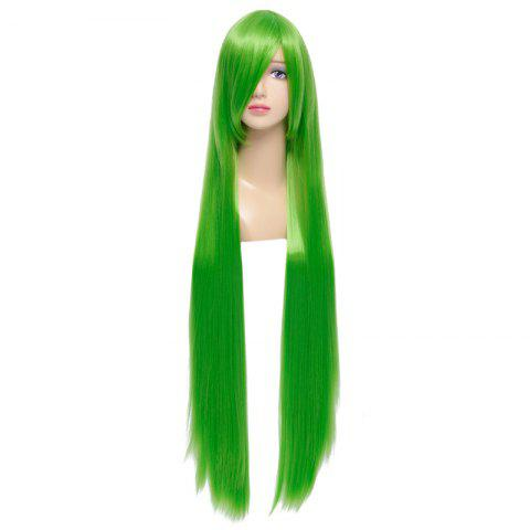 Fashion Fashion Green Capless Extra Long Silky Straight Synthetic Code Geass Cosplay Wig - GREEN  Mobile
