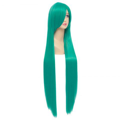 Online Charming Green Silky Straight Synthetic Extra Long Capless Hatsune Miku Cosplay Wig - GREEN  Mobile