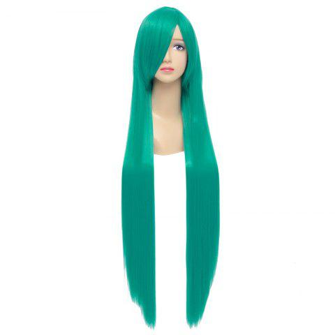 Sale Charming Green Silky Straight Synthetic Extra Long Capless Hatsune Miku Cosplay Wig - GREEN  Mobile