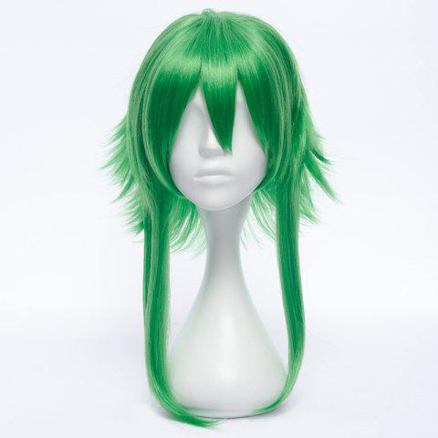 Store Stunning Green Medium Fluffy Straight Anti Alice Hair GUMI Costume Play Wig