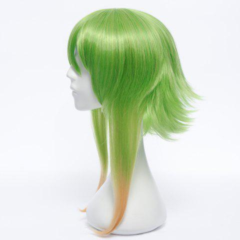 Hot Trendy Medium Fluffy Straight Anti Alice Hair Ombre Color GUMI Cosplay Wig - COLORMIX  Mobile