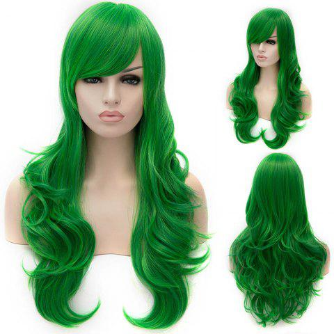 Shop Vogue Lolita Green Long layered Shaggy Wavy Synthetic Party Wig For Women - GREEN  Mobile