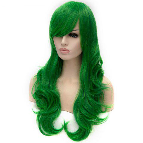 Best Vogue Lolita Green Long layered Shaggy Wavy Synthetic Party Wig For Women - GREEN  Mobile