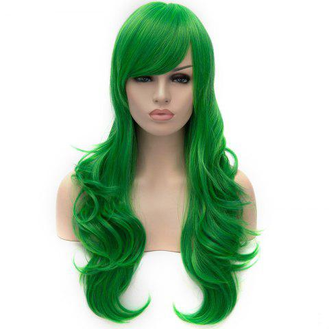 Hot Vogue Lolita Green Long layered Shaggy Wavy Synthetic Party Wig For Women - GREEN  Mobile