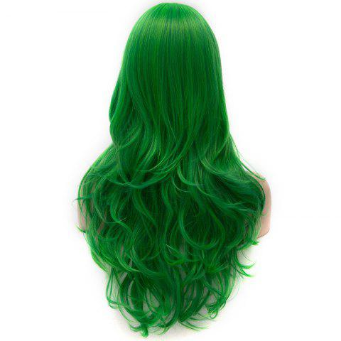Discount Vogue Lolita Green Long layered Shaggy Wavy Synthetic Party Wig For Women - GREEN  Mobile
