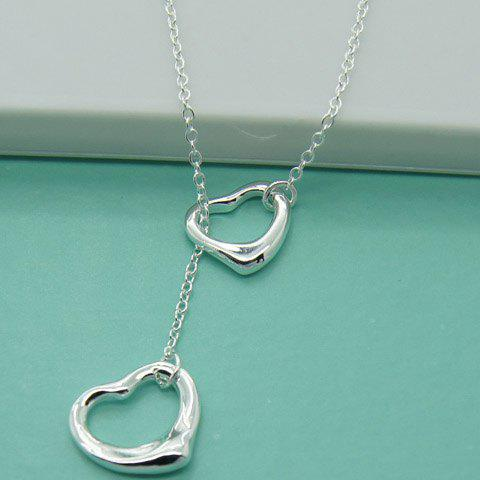 Fancy Alloy Heart Hollow Out Necklace