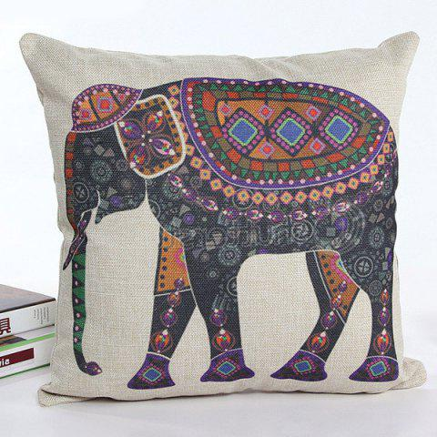 Store Colorful Cartoon Elephant Printed Square Shape Flax Pillow Case(Without Pillow Inner) - COLORMIX  Mobile