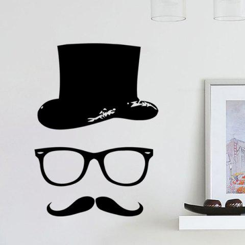 Unique Quality Black Gentleman Pattern Removeable Wall Stickers