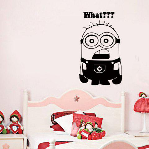 Cheap Minion Pattern Wall Stickers For Kids Room BLACK