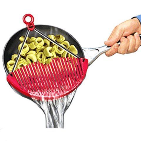 Discount High Quality Kitchen Better Strainer Portable Drain Rack Pan Kitchen Gadget - RED  Mobile
