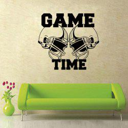 Letter Pattern Removeable Sport Quotes Wall Decal