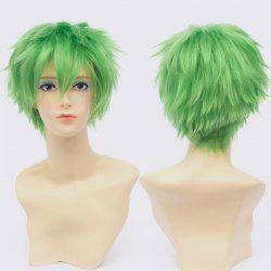 Fluffy Short Anti Alice Hair Wavy Trendy Green Synthetic Roronoa Zoro Cosplay Wig
