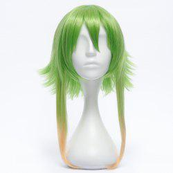 Trendy Medium Fluffy Hétéro Anti Alice Hair Ombre Couleur GUMI cosplay perruque - Multicolore