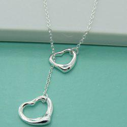 Alloy Heart Hollow Out Necklace -