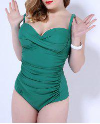 Spaghetti Strap Plus Size Padded One-Piece Bathing Suit