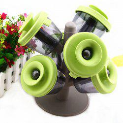 Hot Sale 6pcs Pop-up Spice Rack Tree Style Creative Seasoning Cans -