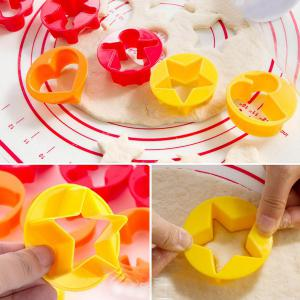 Hot Sale Multifunctional Animal Shape Cake Cookie Mold Gradient Color Rolling Pin -