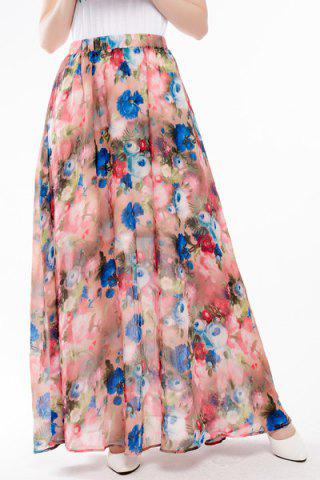 Chic Maxi Floral Boho Skirt