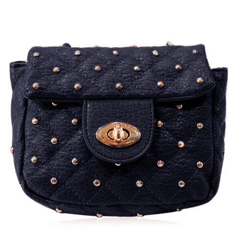 Shop Trendy Rivets and PU Leather Design Crossbody Bag For Women - BLACK  Mobile