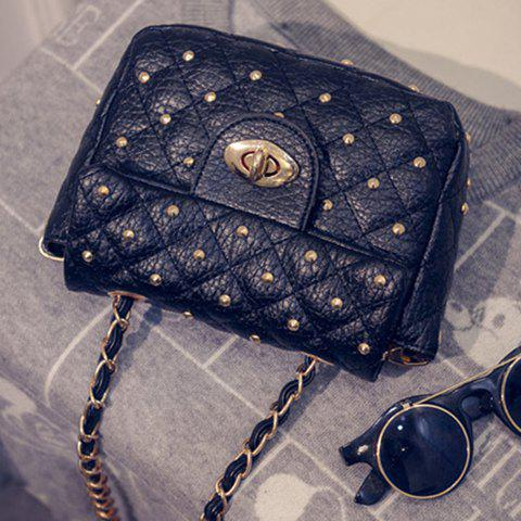 Cheap Trendy Rivets and PU Leather Design Crossbody Bag For Women -   Mobile