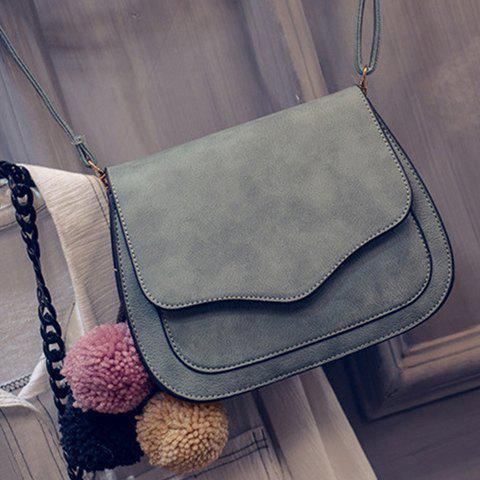 Cheap Simple Cover and PU Leather Design Crossbody Bag For Women -   Mobile
