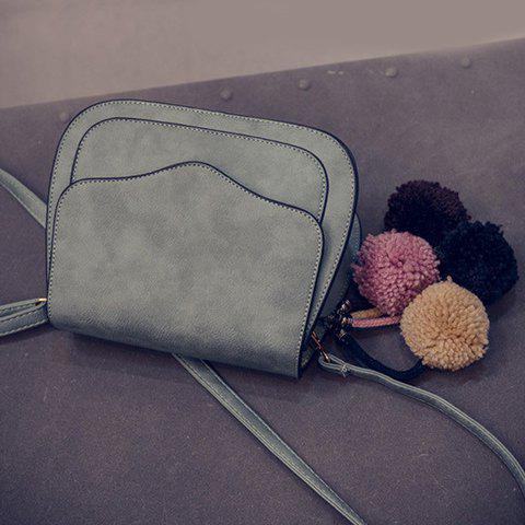 Sale Simple Cover and PU Leather Design Crossbody Bag For Women -   Mobile