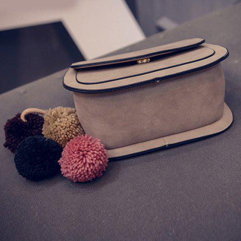 Store Simple Cover and PU Leather Design Crossbody Bag For Women - GRAY  Mobile