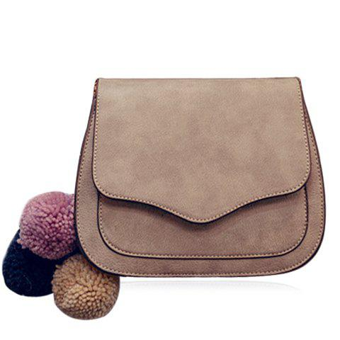 Cheap Simple Cover and PU Leather Design Crossbody Bag For Women - GRAY  Mobile