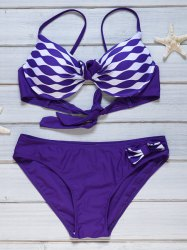 Underwire Padded Color Block Bikin Set