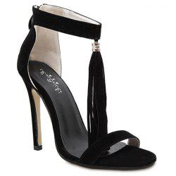 Fashion Tassels and Zipper Design Sandals For Women -