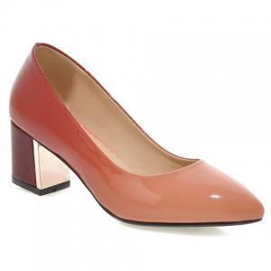 Fashion PU Leather and Gradient Design Pumps For Women