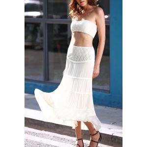 Tube Top Swing Two Piece Lace Club Dress