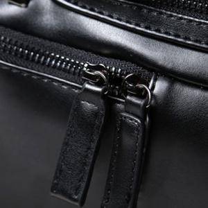 Stylish Rivets and Black Design Backpack For Men - BLACK