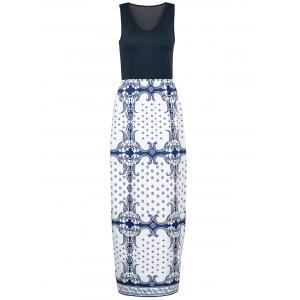 Sexy V-Neck Sleeveless Printed Maxi Dress For Women