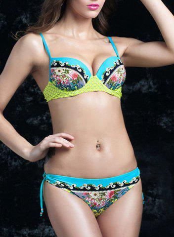 Trendy Fashionable Colorful Printed Moulded Bikini For Women